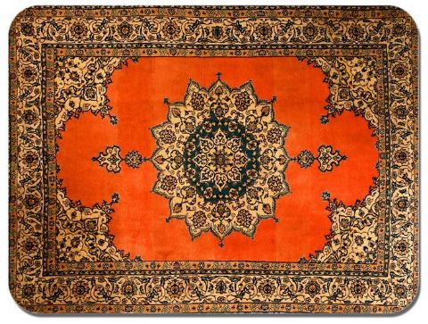 Persian Rug Design Print Mouse Mat. Vintage Carpet Print Quality Mouse Pad #7